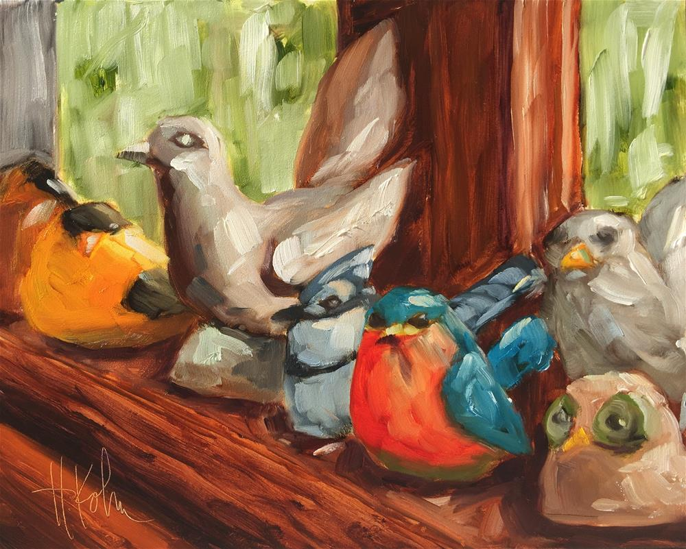 """Bird Collection"" original fine art by Hallie Kohn"
