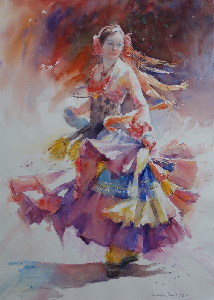 """""""The Dancer"""" original fine art by Lorraine Lewitzka"""