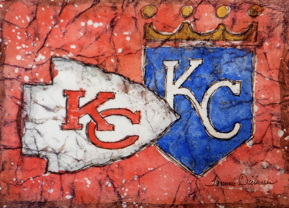"""KC!! - in batik"" original fine art by Tammie Dickerson"