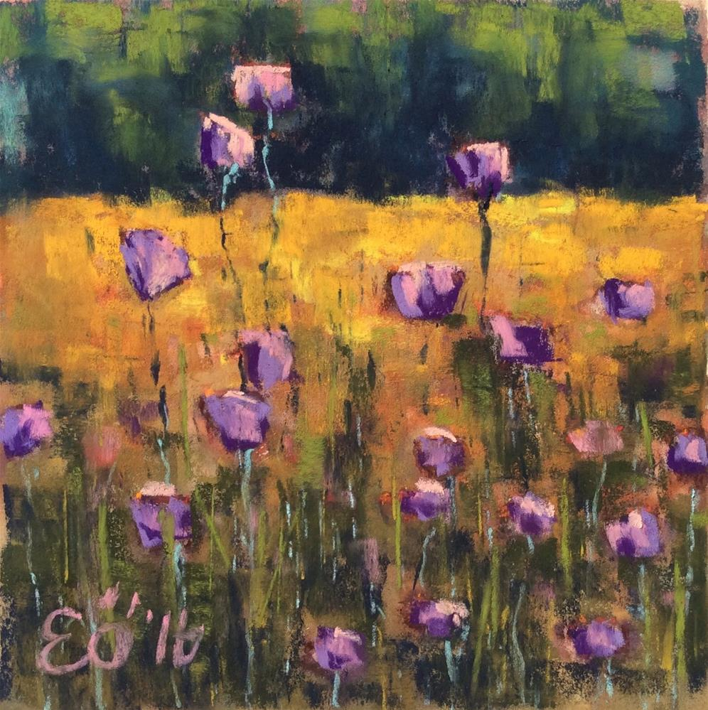 """Purple Flowers"" original fine art by Elcin Ozcan"