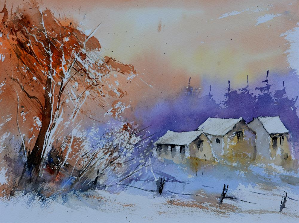"""watercolor 615013"" original fine art by Pol Ledent"