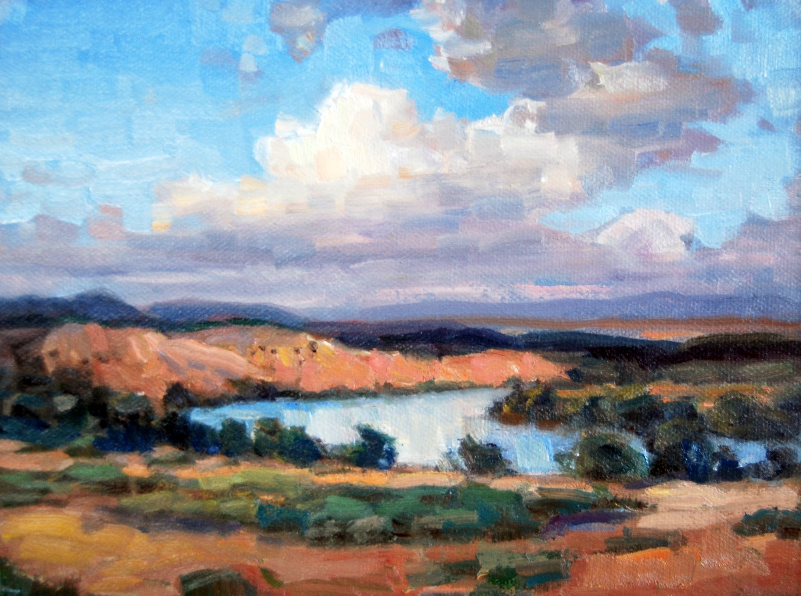 """Rio Grande, Hatch, NM"" original fine art by Julie Ford Oliver"
