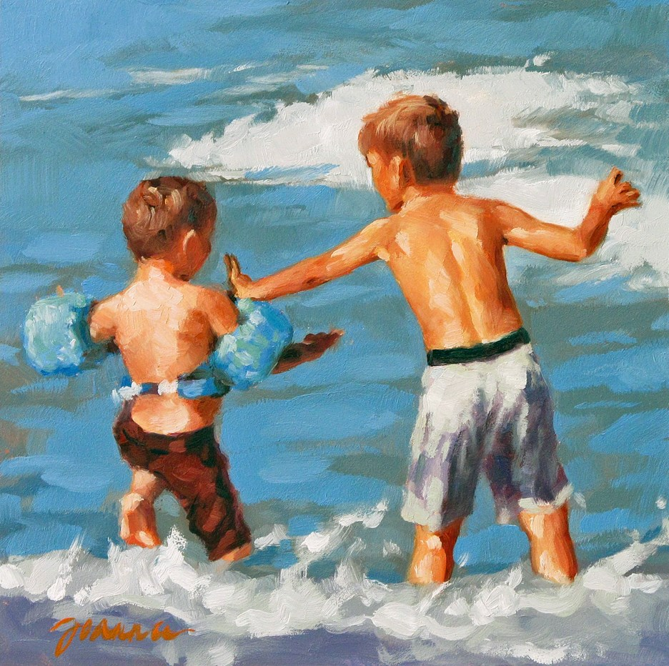 """Brotherly Command"" original fine art by Joanna Bingham"