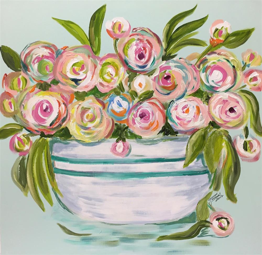 """Country Flowers"" original fine art by Yvonne Snead"