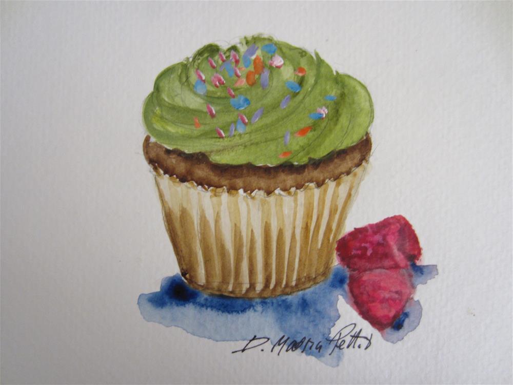 """""""Cup Cake"""" original fine art by Dolores Pettit"""