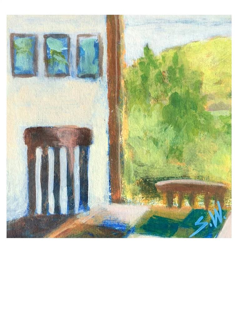 """Monhegan Interior"" original fine art by Suzanne Woodward"