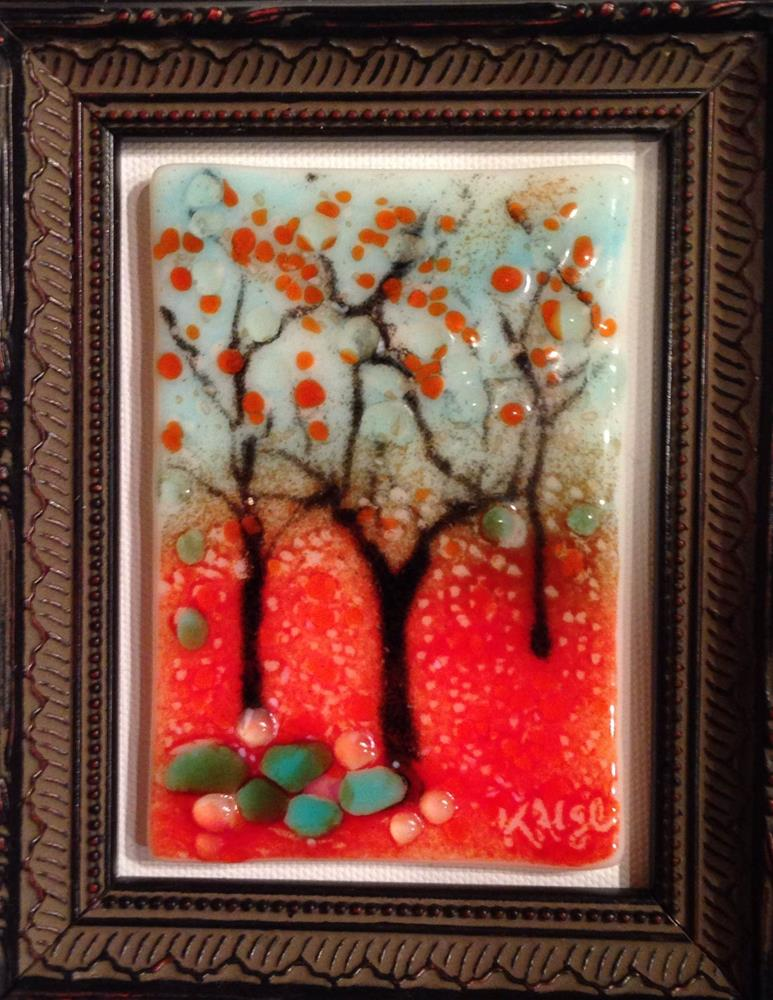 """Tiny Red Forest"" original fine art by Kelly Alge"