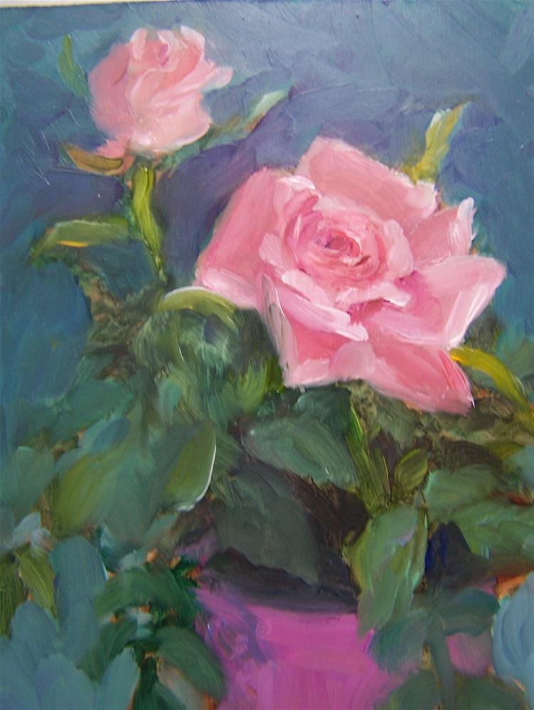 """Sweetheart Roses"" original fine art by Joan Reive"