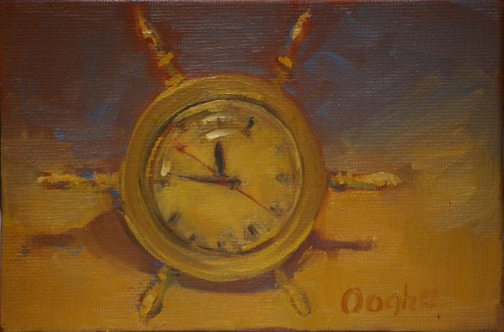 """Brass Clock"" original fine art by Angela Ooghe"