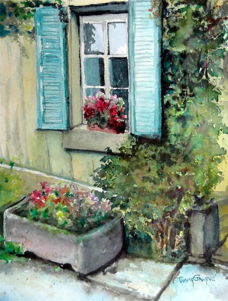 """French Shutters"" original fine art by Tammy Gagne"