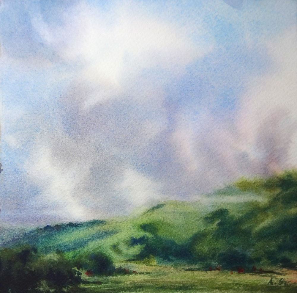 """Erin Green Hills"" original fine art by Arena Shawn"