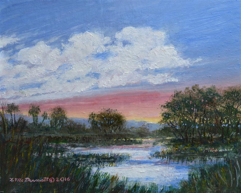 """Marsh Reflections"" original fine art by Kathleen McDermott"