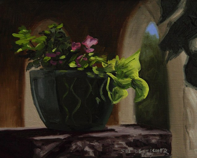 """""""Sliver of Light"""" original fine art by Sue Deutscher"""