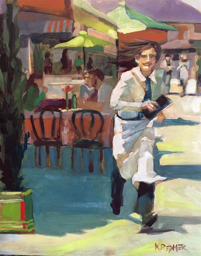 """Dine and Dash"" original fine art by Kathleen Redmer"