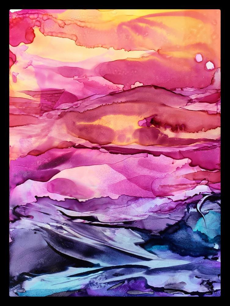 """Red Skies At Night"" original fine art by Kelly Alge"