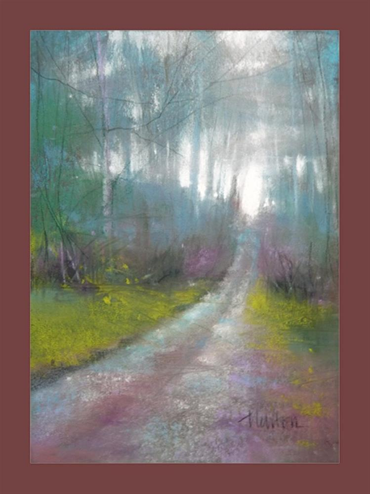 """Foggy Road"" original fine art by Barbara Benedetti Newton"