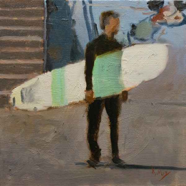 """Sea Wall View"" original fine art by Randall Cogburn"