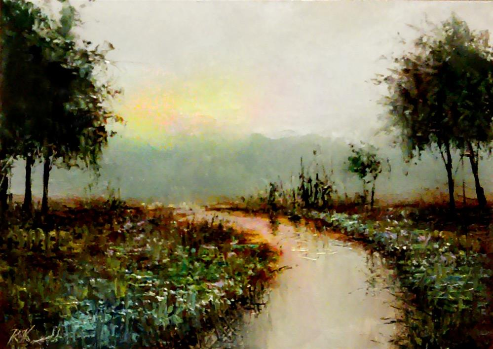 """Early Morning Glow"" original fine art by Bob Kimball"