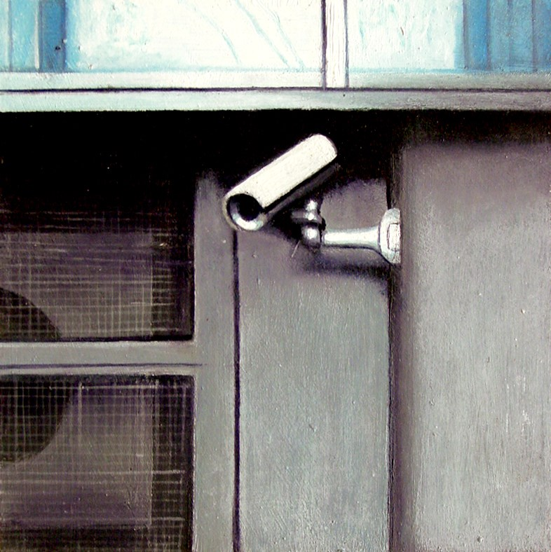 """Security Camera 21- Urban Still Life Painting of CCTV Security Camera"" original fine art by Gerard Boersma"