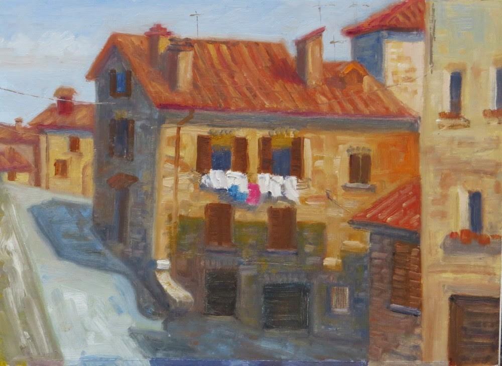 """Hangin' Out in Montepulciano"" original fine art by Richard Kiehn"