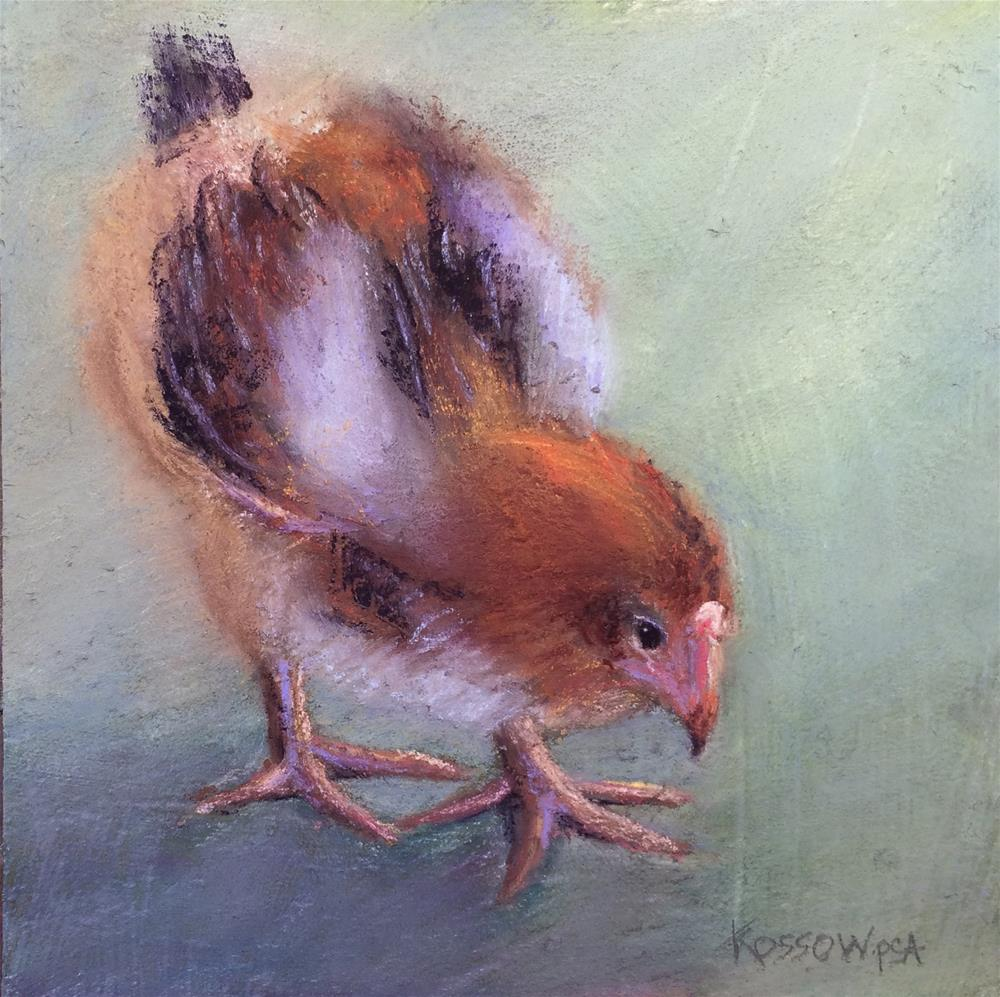 """Chicken, Little"" original fine art by Cristine Kossow"