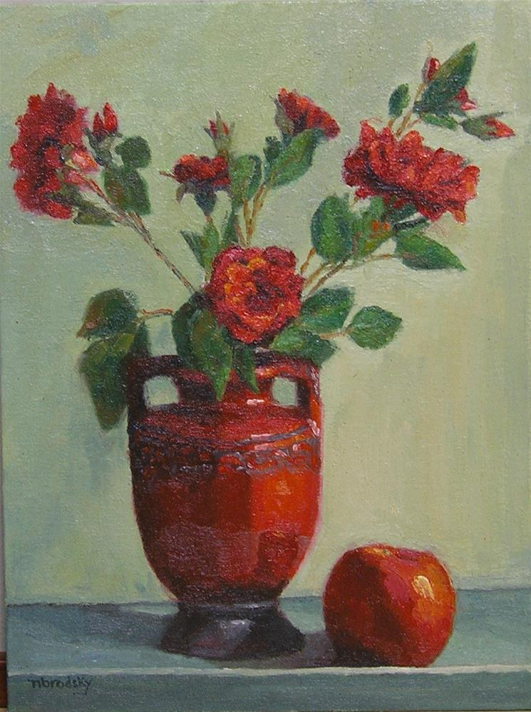 """Reds"" original fine art by Nina Brodsky"