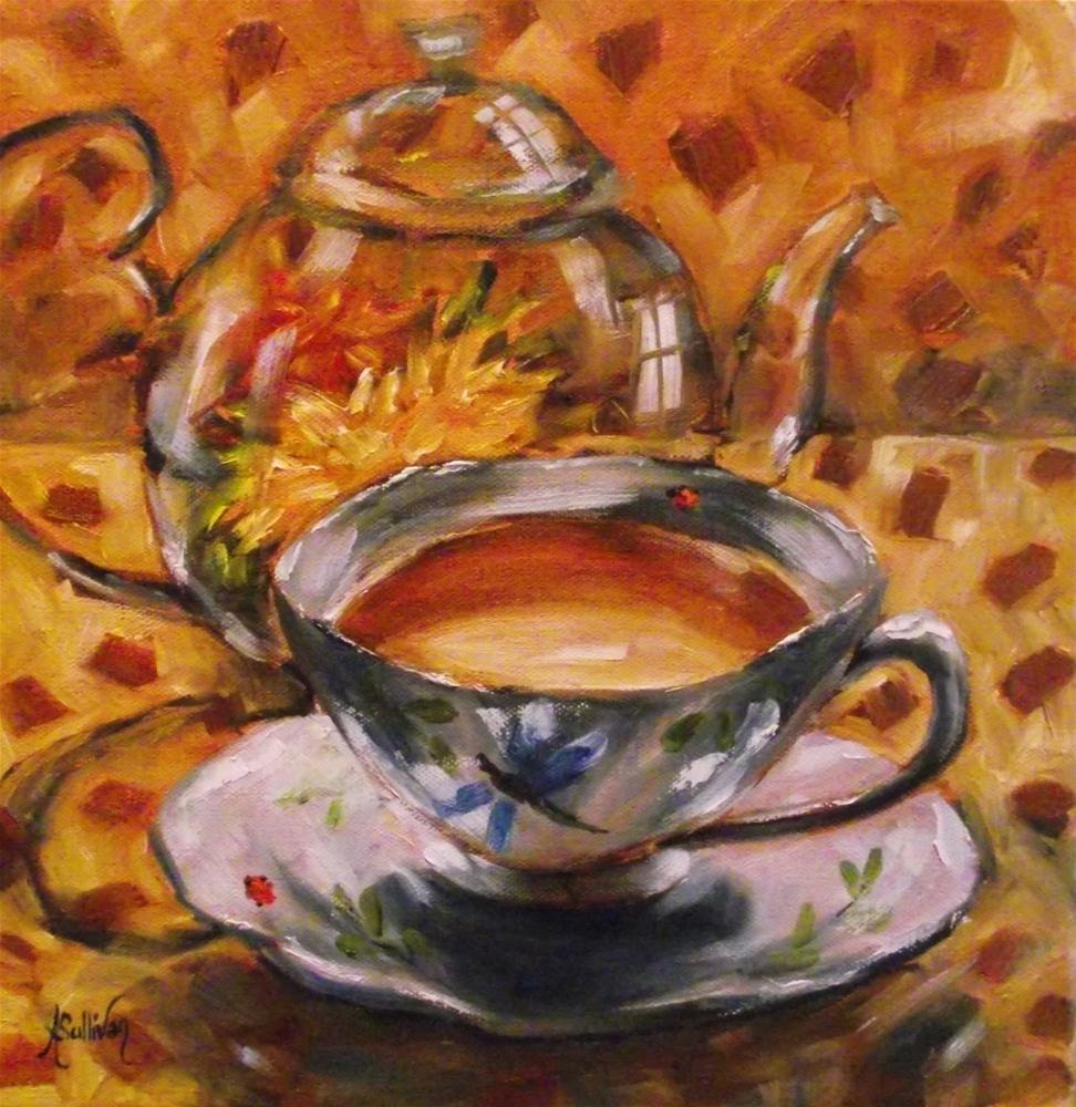 """A Bug In My Cup"" original fine art by Angela Sullivan"
