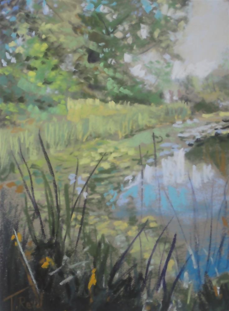 """Lilly's on the Pond"" original fine art by Toby Reid"