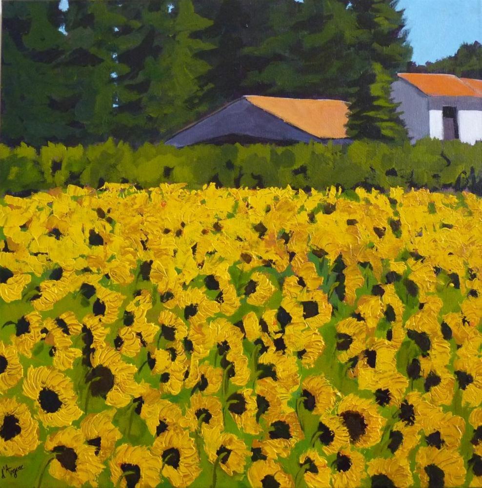 """""""Sunflowers"""" original fine art by Karen D'angeac Mihm"""