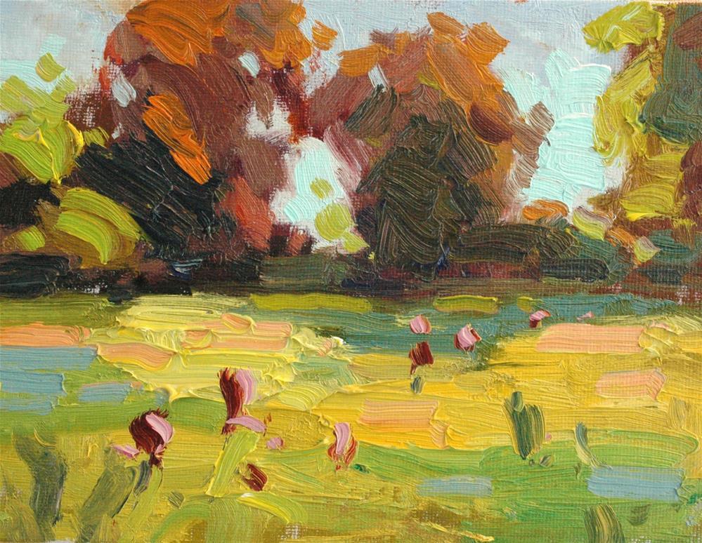 """Spring Irises"" original fine art by Michael Clark"