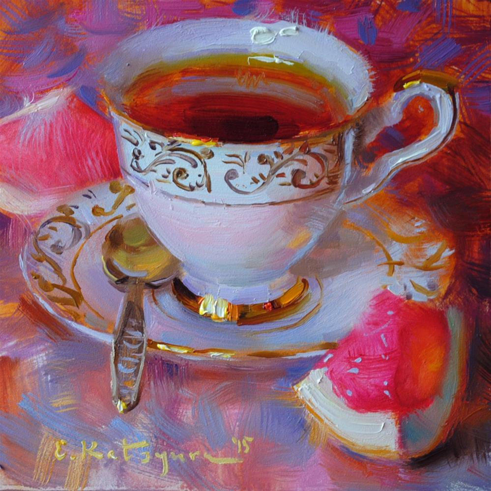 """Monday Tea"" original fine art by Elena Katsyura"