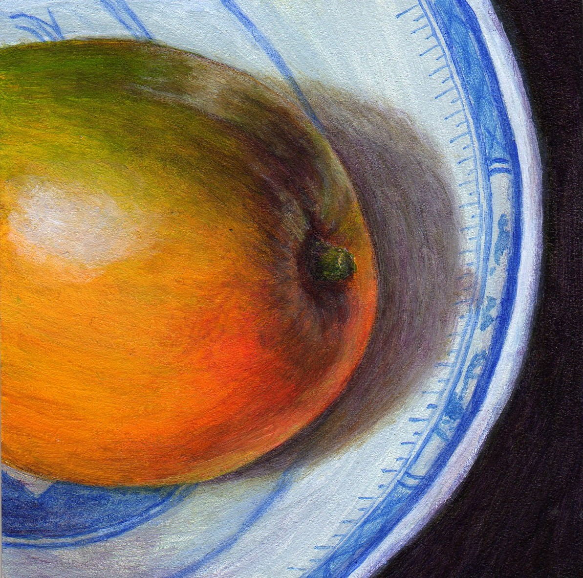 """My Mango"" original fine art by Debbie Shirley"
