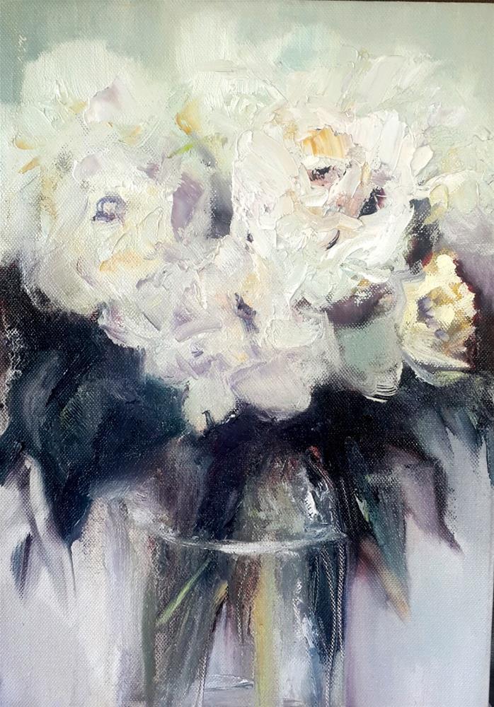 """Floral study"" original fine art by Rentia Coetzee"