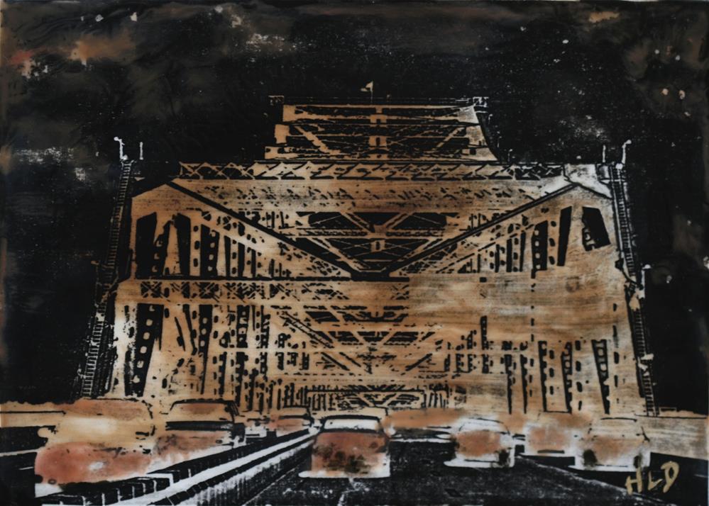 """""""Tappan Zee Bridge #2"""" original fine art by Heather Douglas"""
