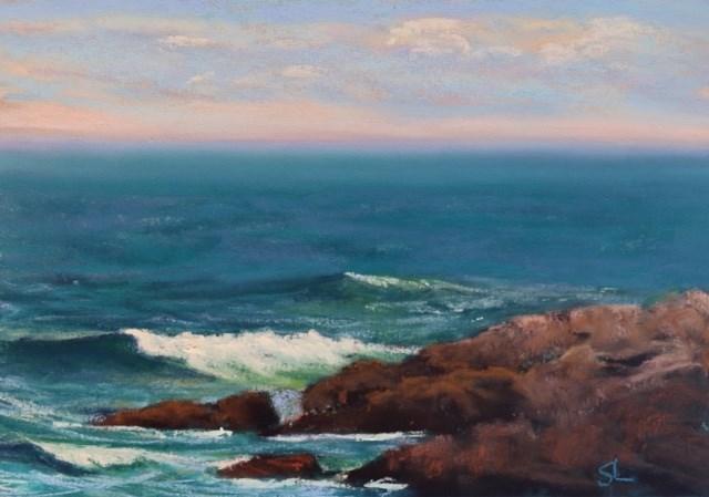 """""""Waves"""" original fine art by Sharon Lewis"""