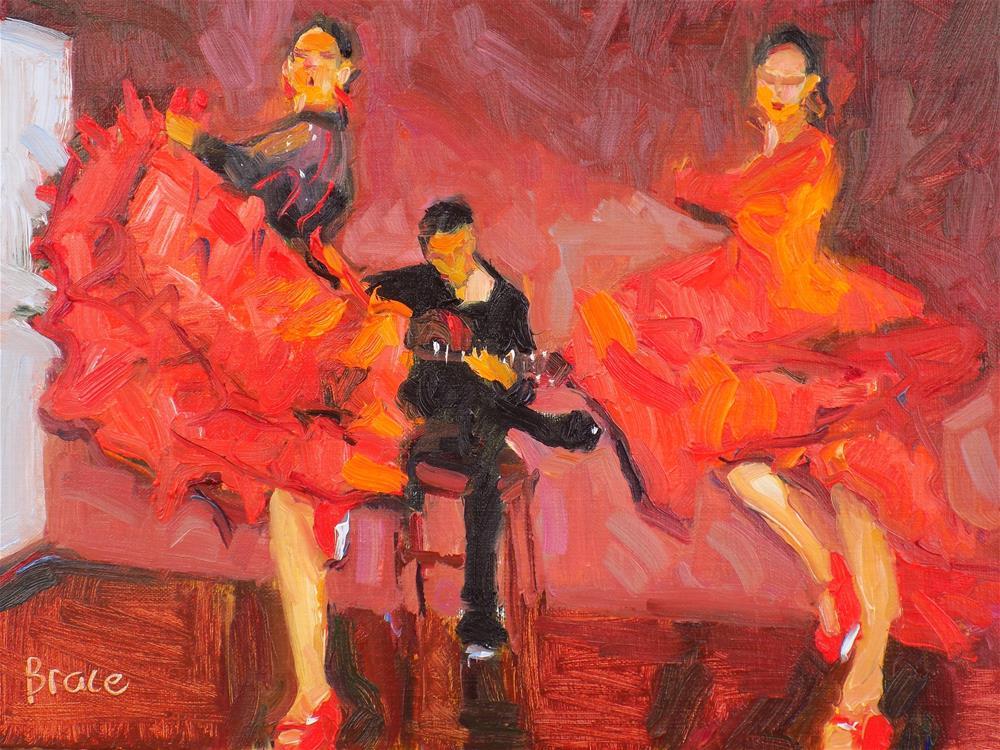 """Sevillanas"" original fine art by Rita Brace"