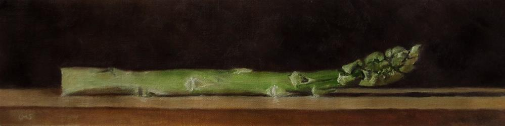 """Green Asparagus"" original fine art by Ulrike Miesen-Schuermann"