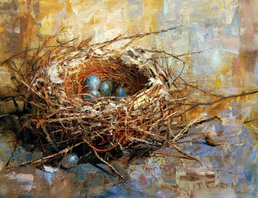 """""""Avian Architecture - Demo at Gallery"""" original fine art by Julie Ford Oliver"""