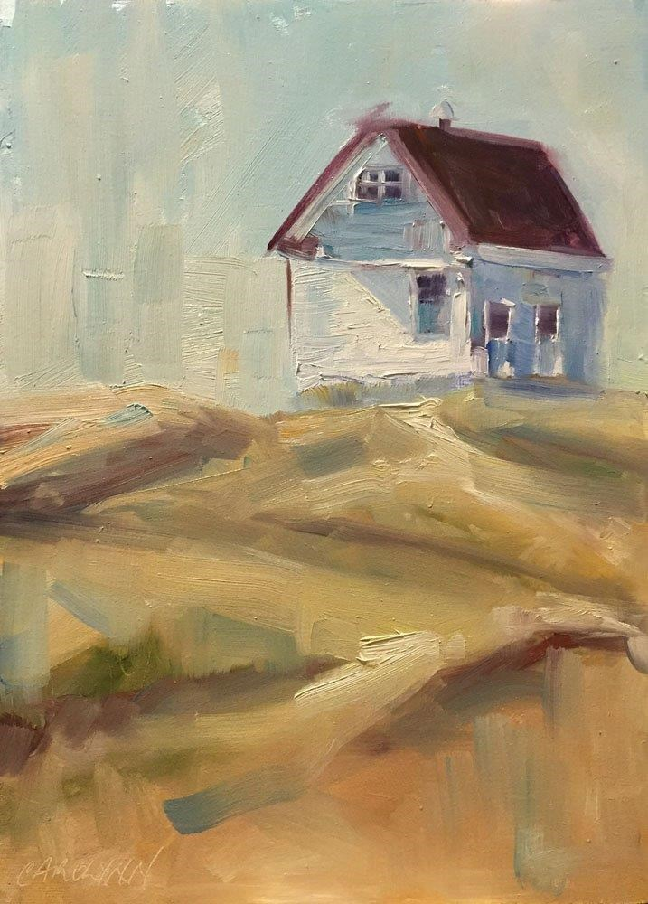 """Saturna Island Lighthouse"" original fine art by Carolynn Doan"