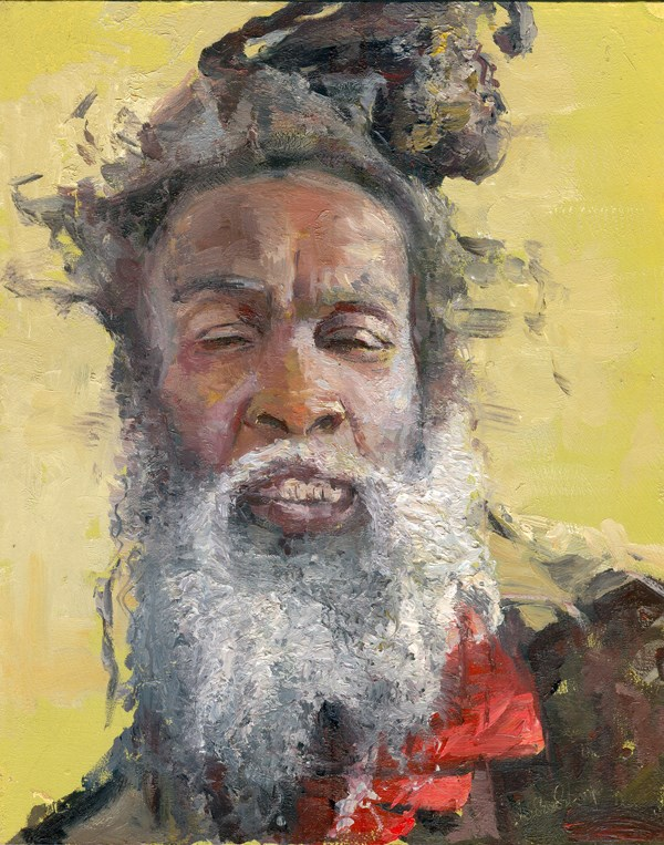"""The Face of Homelessness, Clapham Common II"" original fine art by Adebanji Alade"