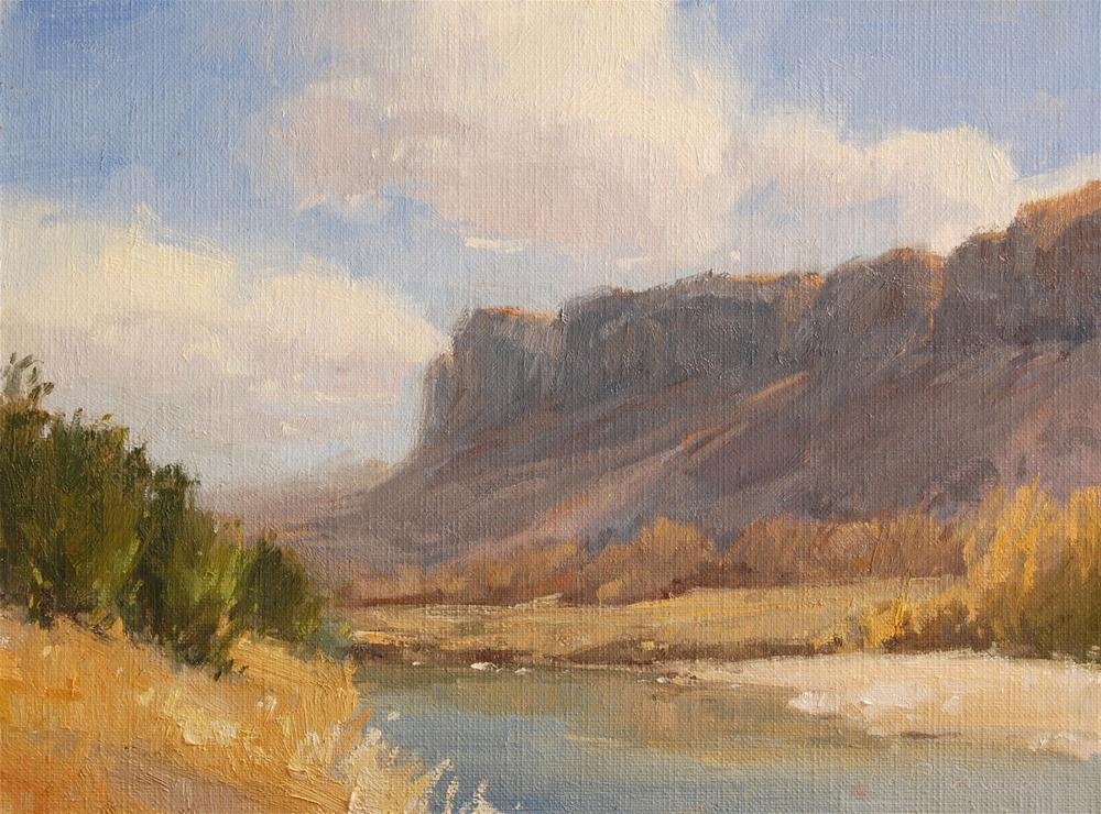 """River Border - Big Bend"" original fine art by Laurel Daniel"