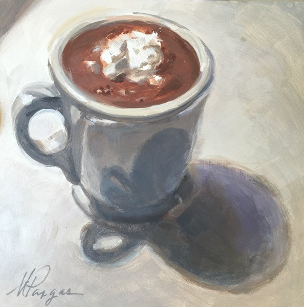 """Hot Cocoa"" original fine art by Mary Pargas"