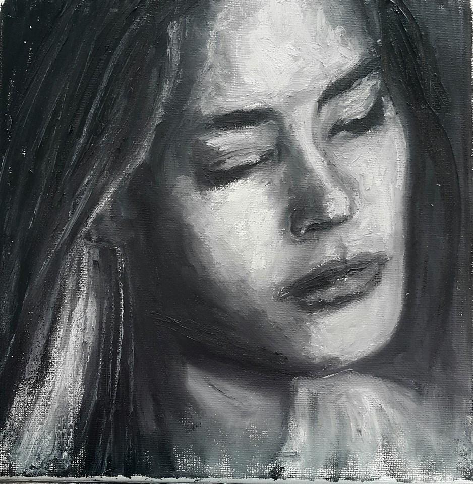 """Girl"" original fine art by Rentia Coetzee"