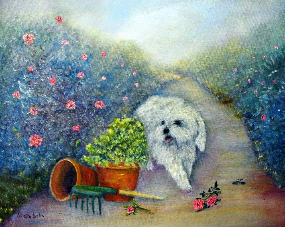 """""""Garden Path"""" original fine art by Loretta Luglio"""