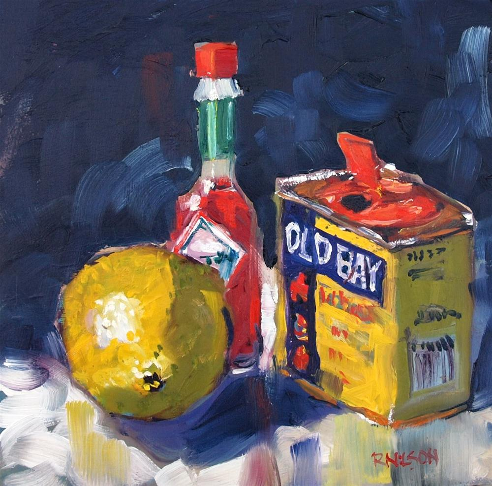 """Seafood Condiments"" original fine art by Rick Nilson"