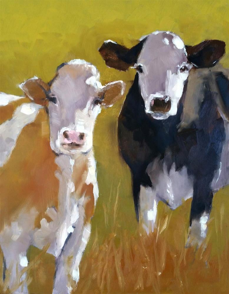 """BeefFriendsForever"" original fine art by De Selby"
