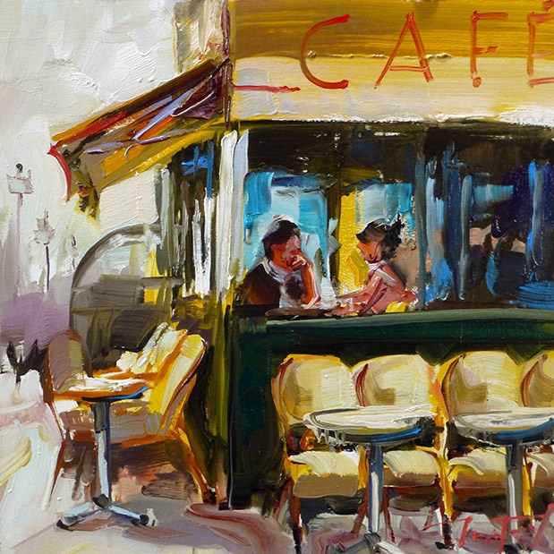 """Café"" original fine art by Jurij Frey"