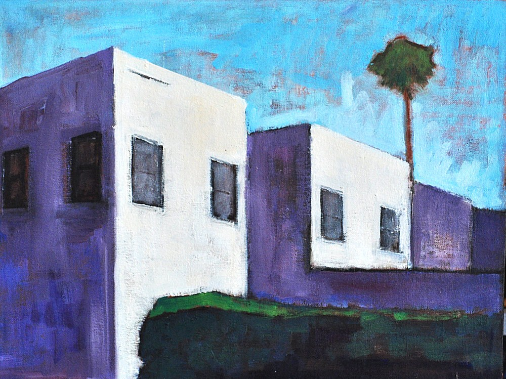 """Vintage Apartments"" original fine art by Kevin Inman"