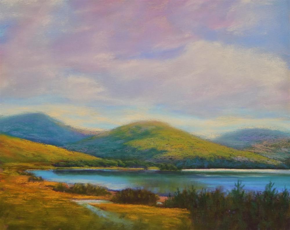 """Mountain Serenity"""" original fine art by Sharon Lewis"