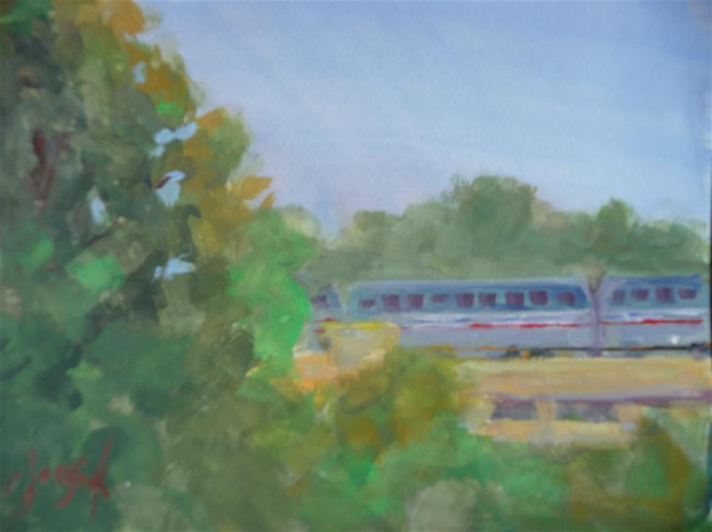 """Morning Commute"" original fine art by Carol Josefiak"
